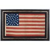 38 STAR AMERICAN FLAG, EXTREMELY RARE WREATH VARIATION, COLORADO