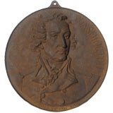CAST STEEL MEDALLION DEPICTING GEORGE WASHINGTON, 1876 OR 1878