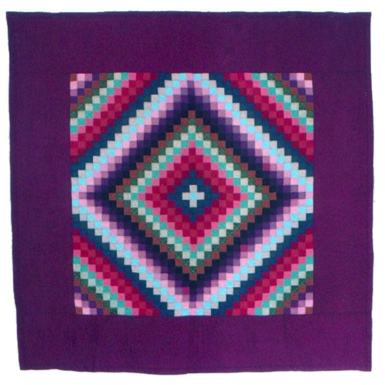 Amish Quilt Sunshine And Shadows Pattern Lancaster