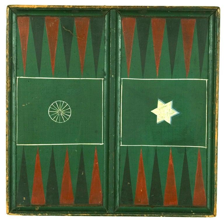 "Pennsylvania Backgammon Board, Signed ""Wise"" For Sale"