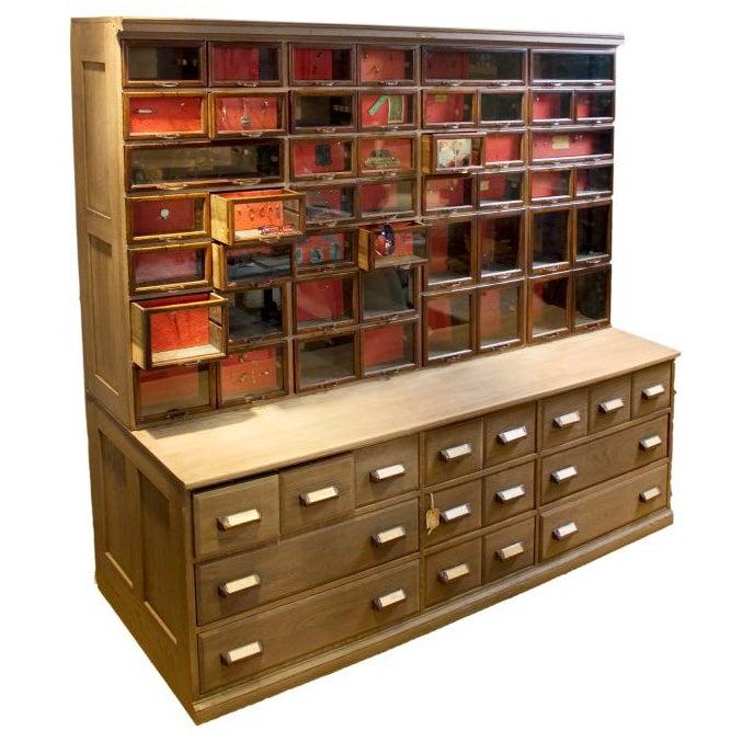 - Vintage Hardware Store Cabinet At 1stdibs