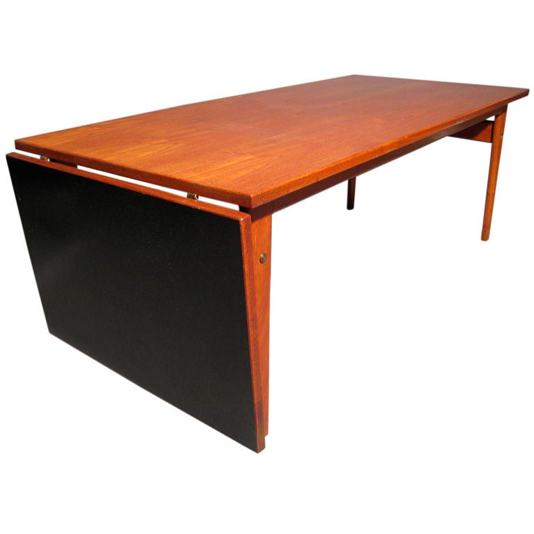 P Jeppesen Danish Drop Leaf Coffee Table At 1stdibs