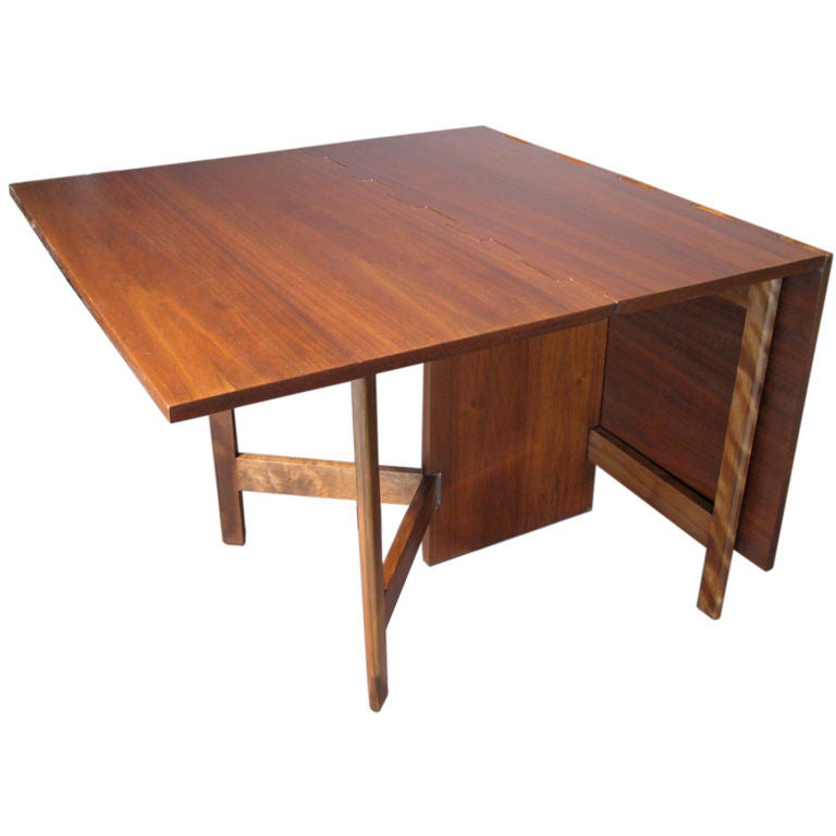 George Nelson Drop Leaf Dining Table For Herman Miller At 1stdibs