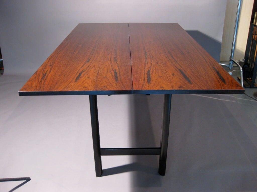 harvey probber rosewood flip top console dining table at 1stdibs. Black Bedroom Furniture Sets. Home Design Ideas