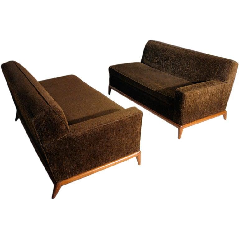 T H Robsjohn Gibbings Two Piece Sofa For Widdicomb