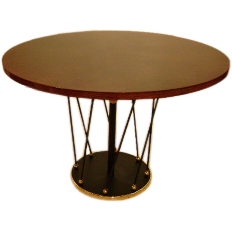 A Round Adjustable Cocktail Dining Table By Jean Royere At 1stdibs