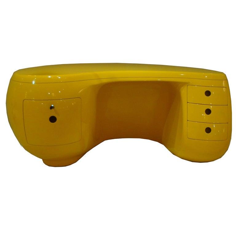 Stylish Boomerang Desk by Maurice Caulka for Leleu-Deshays