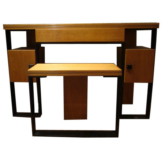 Modernist dressing table and stool by robert mallet stevens at