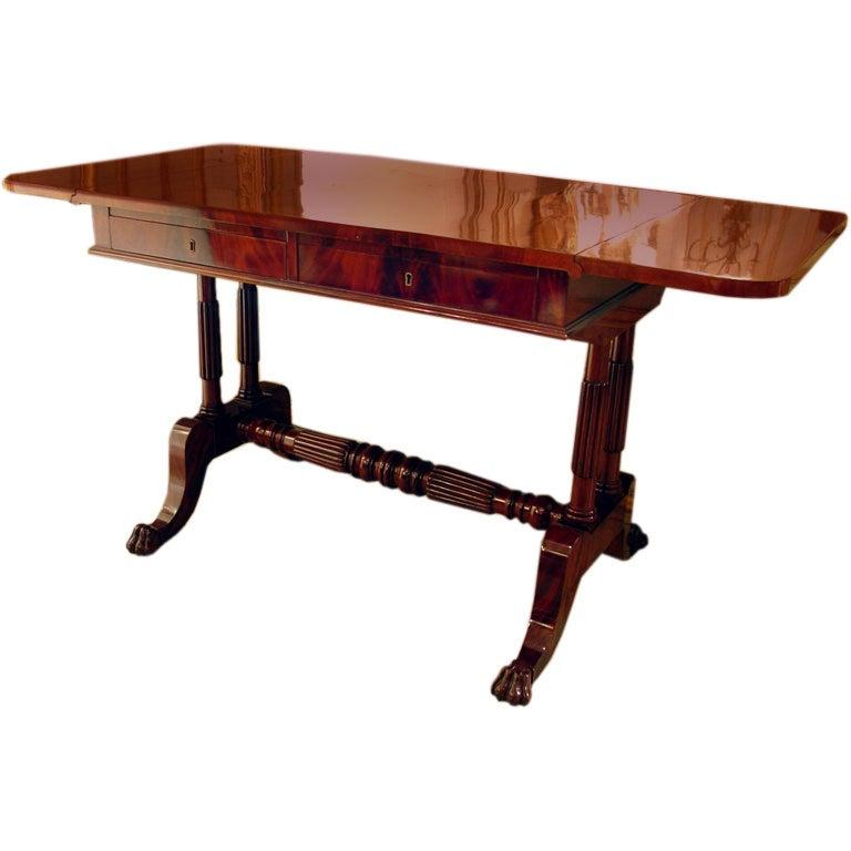 Near pair of mahogany drop leaf sofa tables at 1stdibs for Sofa table near me