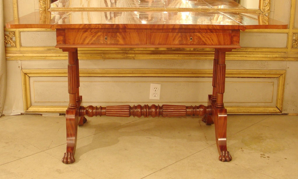 Near pair of mahogany drop leaf sofa tables at 1stdibs for Sofa table for sale near me