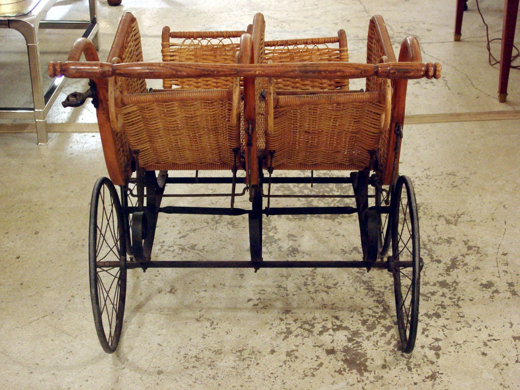 Heywood American Twin Baby Carriage At 1stdibs