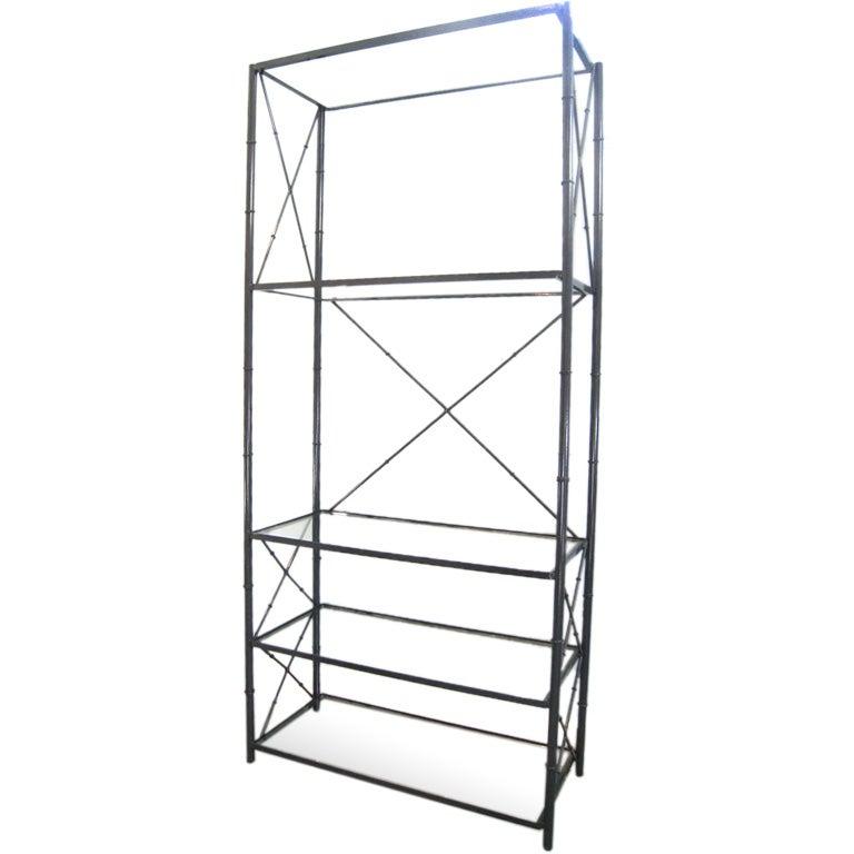 Faux bamboo metal etagere at 1stdibs - Etagere metal industriel ...
