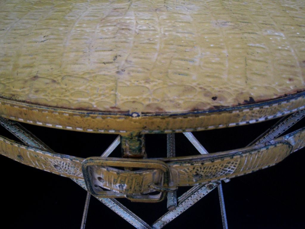 Faux Crocodile French Bistro Table and Two Chairs image 7