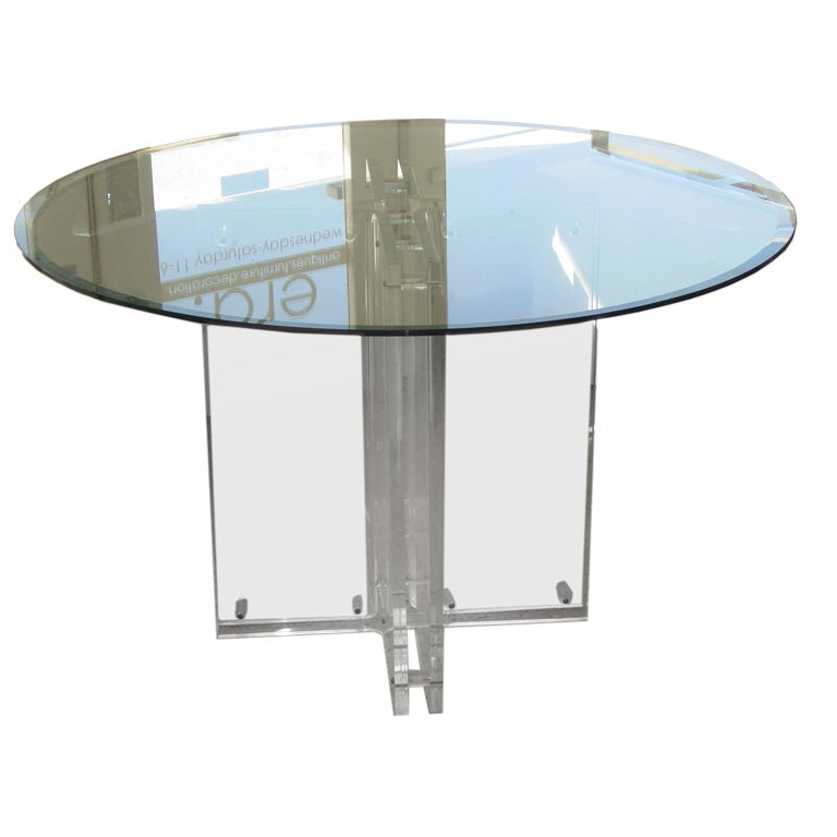Lucite Dining Table Base At 1stdibs