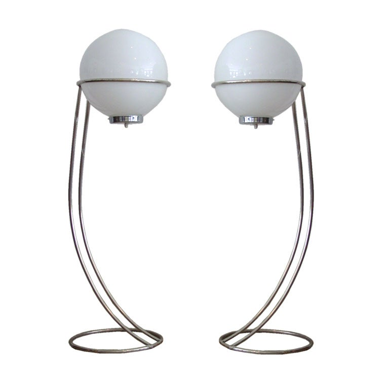 Pair Space Age Floor Lamps 1