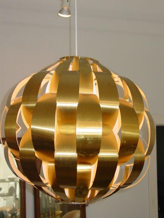 Golden Globe Pendant Fixture At 1stdibs
