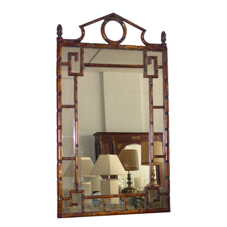 Attractive Faux Bamboo Mirror