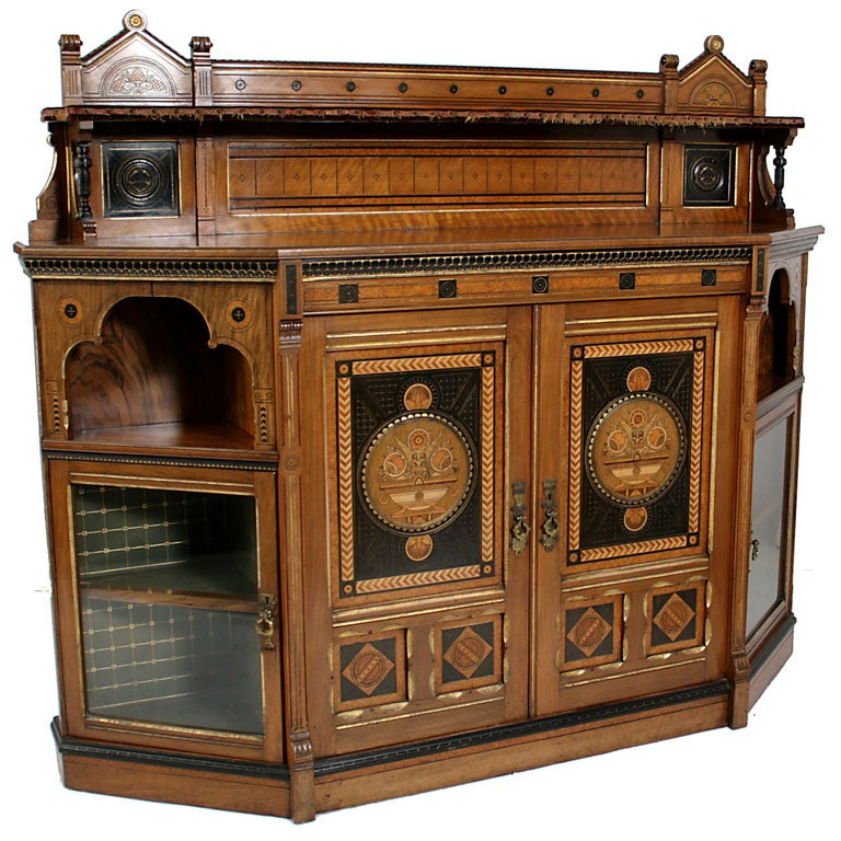 An arts and crafts side cabinet probably by talbert at for Arts and crafts storage cabinet