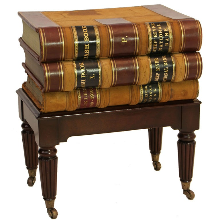 A Stacked Book Side Table At 1stdibs