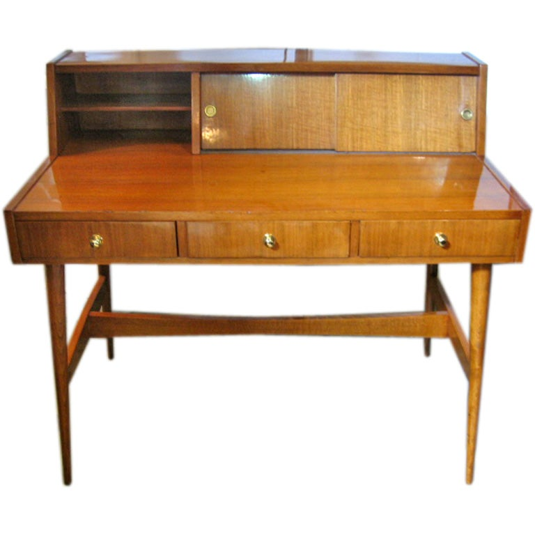 Exquisite Mid Century Pallisandre Writing Desk For Sale At