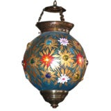Assortment of 19th Century Indian Hanging Glass Globe Lanterns