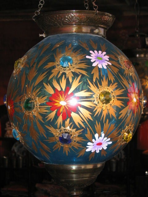 Assortment of 19th Century Indian Hanging Glass Globe Lanterns 2