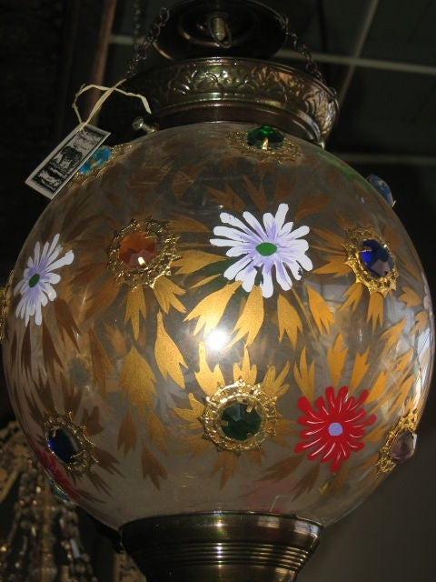 Assortment of 19th Century Indian Hanging Glass Globe Lanterns 3