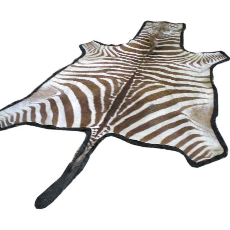Vintage Zebra Rug 1
