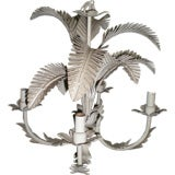 Small Palm Leaf Hanging Metal Chandelier