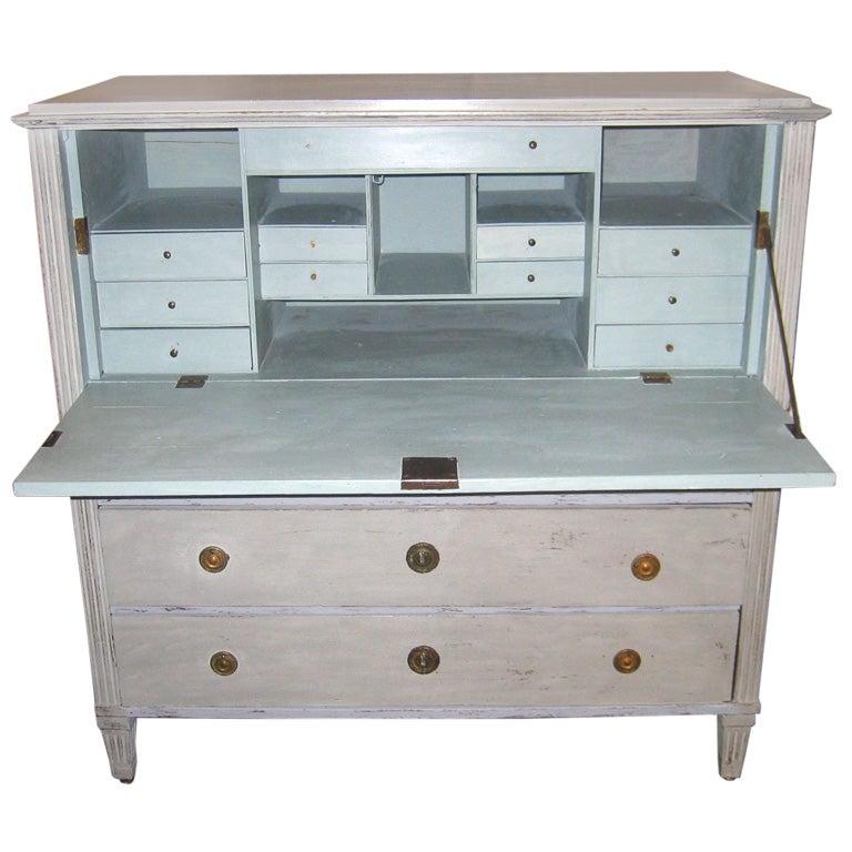 18th c Gustavian Swedish Desk with Distressed Finish at 1stdibs
