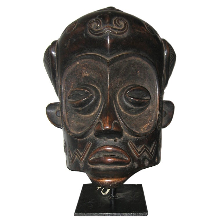 Bene-Lulua Mask from Zaire, Africa 1