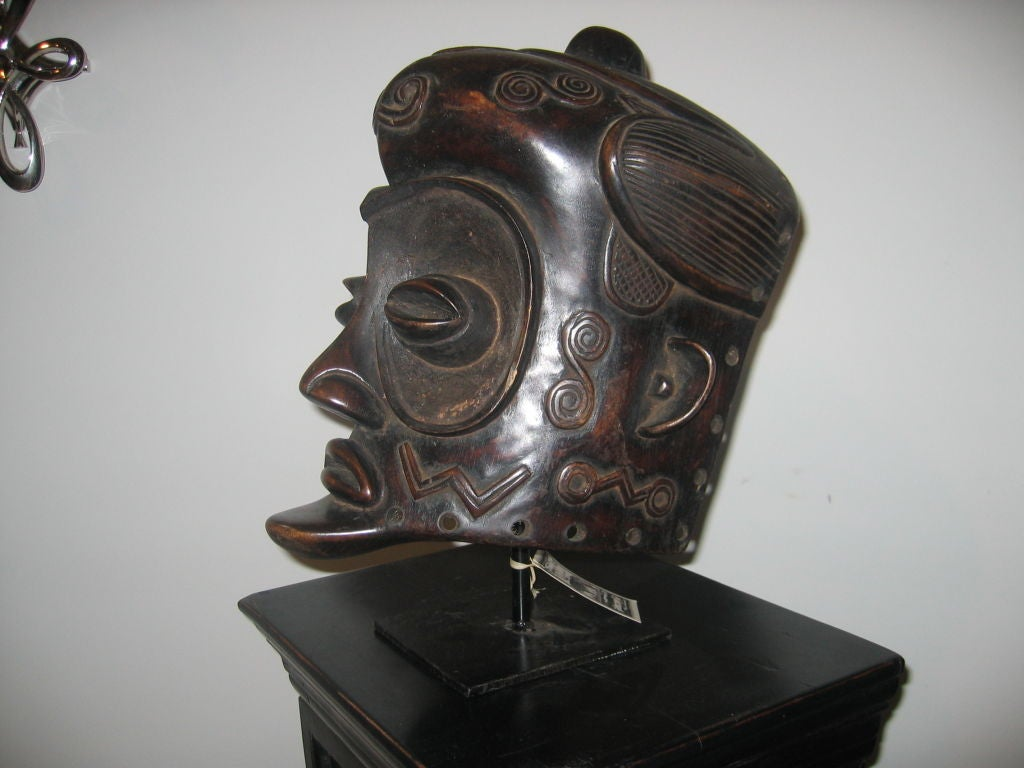 Bene-Lulua Mask from Zaire, Africa 2