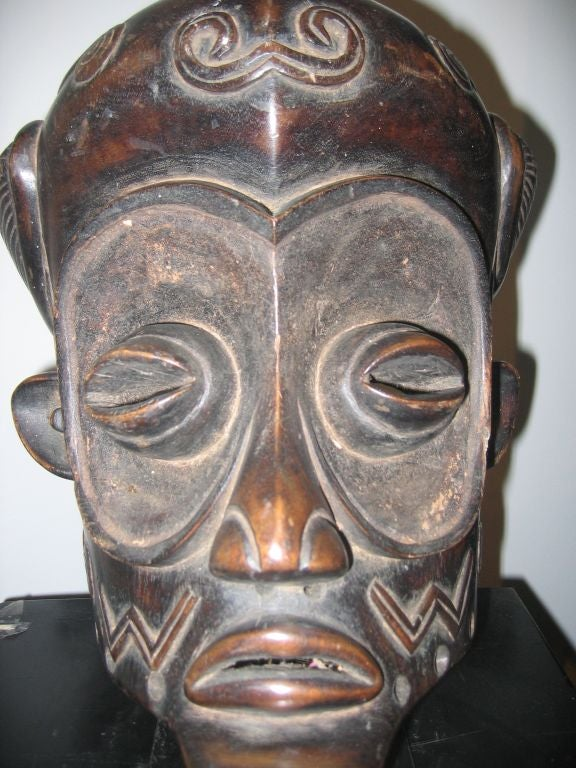 Bene-Lulua Mask from Zaire, Africa 3