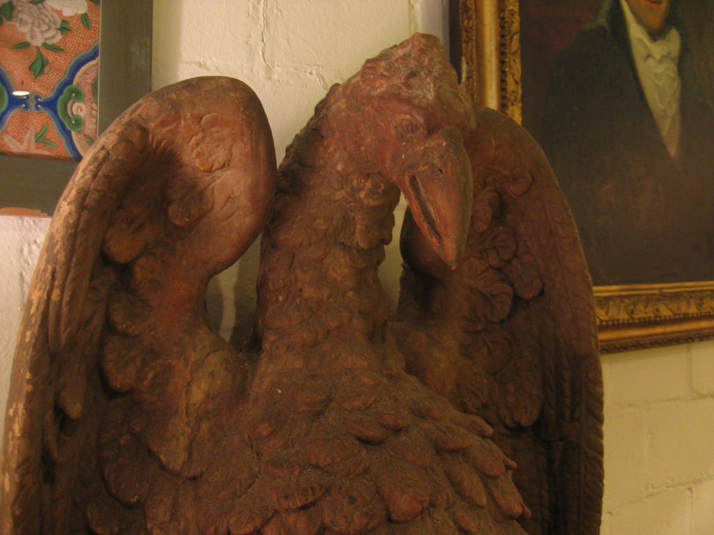 An Important Pair of French 18th c. Terra Cotta Eagle Sculptures 3