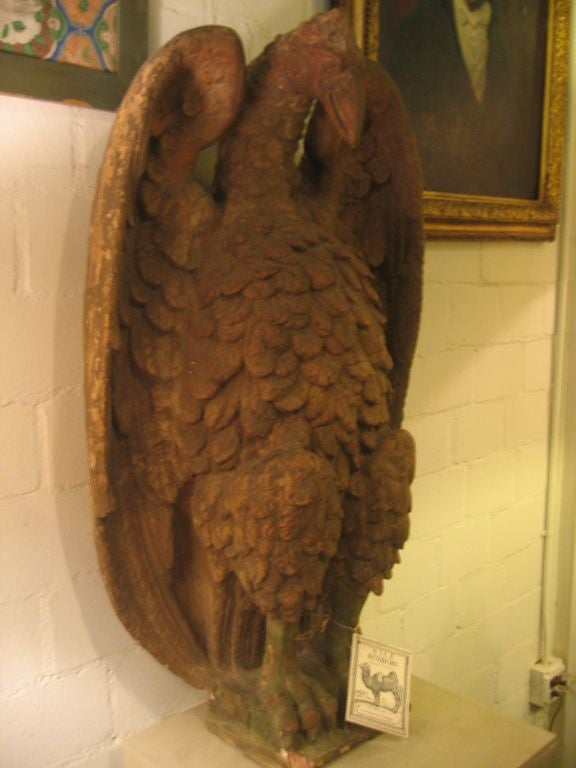An Important Pair of French 18th c. Terra Cotta Eagle Sculptures 2