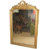 19th c. French Louis XVI Gilt Dore Wood Mirror