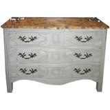 19th c. French Chest w/ Painted Faux Marble Top
