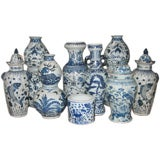 Early 20th c. Assortment of Large Chinese Blue & White Ceramics