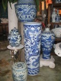 Early 20th c. Assortment of Large Chinese Blue & White Ceramics thumbnail 2