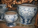 Early 20th c. Assortment of Large Chinese Blue & White Ceramics thumbnail 4
