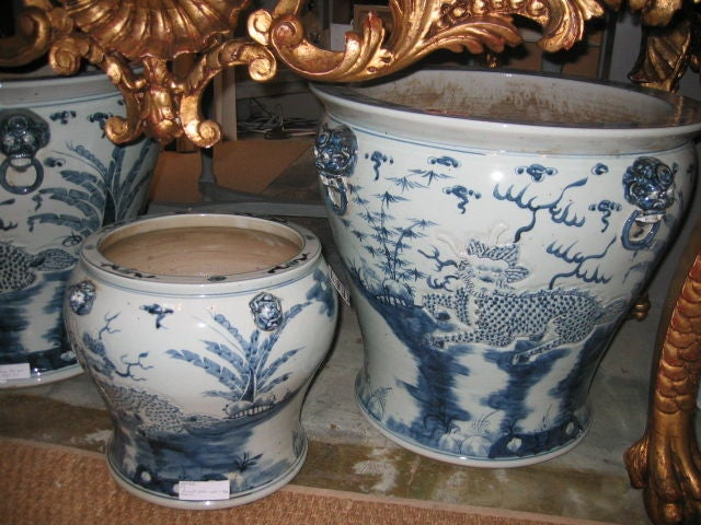 Early 20th c. Assortment of Large Chinese Blue & White Ceramics image 4