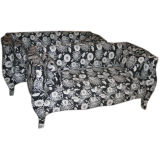 Pair of 1960's Hollywood Regency Style Floral Sofas