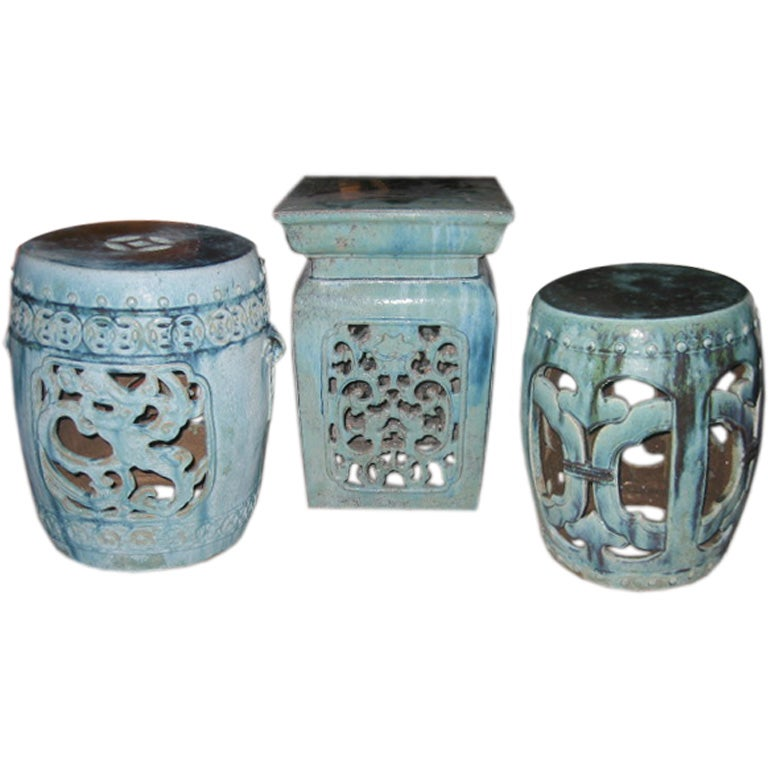An Assortment Of Chinese Provincial Garden Stools At 1stdibs