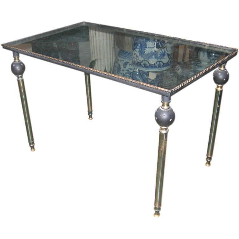 1940 39 S French Cocktail Table With Antique Mirrored Top At 1stdibs