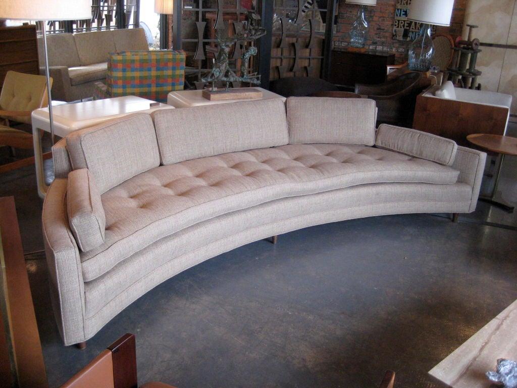 Incredible crescent shaped sofa at 1stdibs