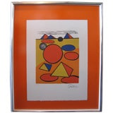 Alexander Calder pencil signed artist proof print