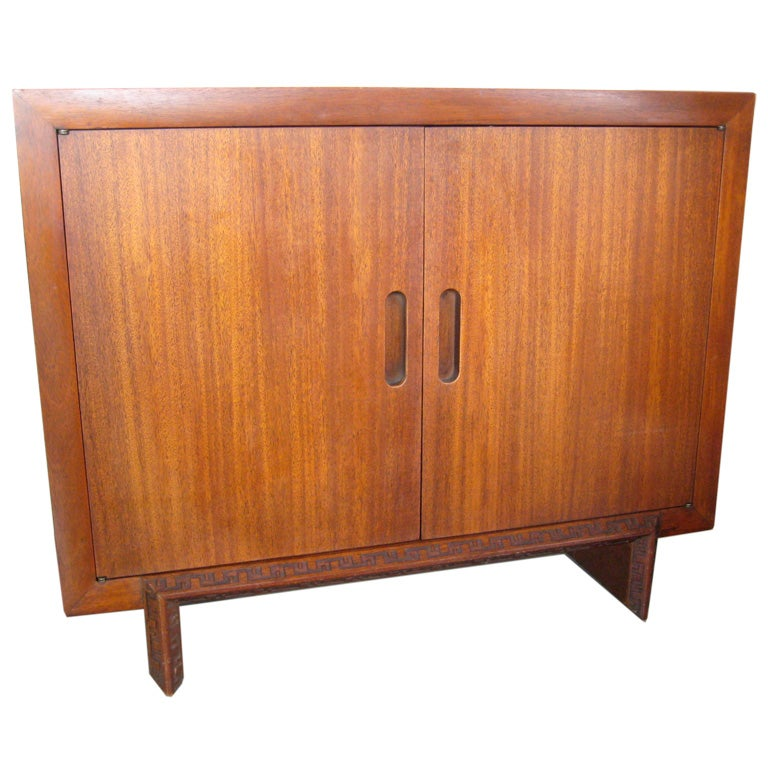 Mahogany cabinet by Frank Lloyd Wright