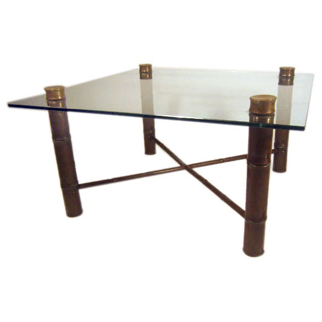 Brass Bamboo And Glass Coffee Table At 1stdibs