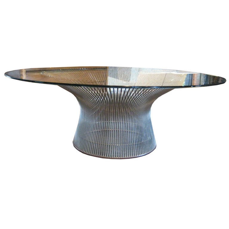 Nickel plated coffee table by warren platner at 1stdibs for Warren platner coffee table
