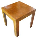 Small Italian Burl wood parsons table